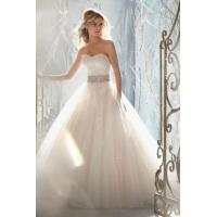 Wholesale Ball Gown Sweetheart Sweep/brush Train Organza Beading&sequince Wedding Dress from china suppliers