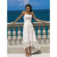 Buy cheap Length Natural Waist Lace Strapless Zipper Wedding Dress from wholesalers