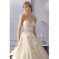 Buy cheap Sweetheart 2015 Organza Applique A-line Wedding Dress from wholesalers