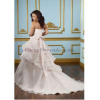 Organza Sweetheart Beading A-line Plus Size Wedding Dress Manufactures