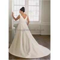 Taffeta V-neck Ruching A-line Plus Size Wedding Dress Manufactures