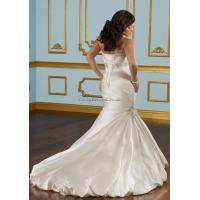 Satin Sleeveless Beaded Trumpet Empire Wedding Dress Manufactures