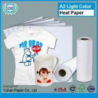 Buy cheap New design light color sublimation heat transfer printing paper high quality t-shirt transfer paper from wholesalers