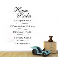 Buy cheap rules decorative wall stickers from wholesalers