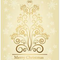 Wholesale Christmas decorative printed golden stickers from china suppliers