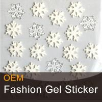 Buy cheap Snowflake decorative gel sticker product