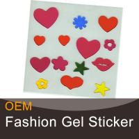 Buy cheap Heart-shaped decorative gel art stickers product