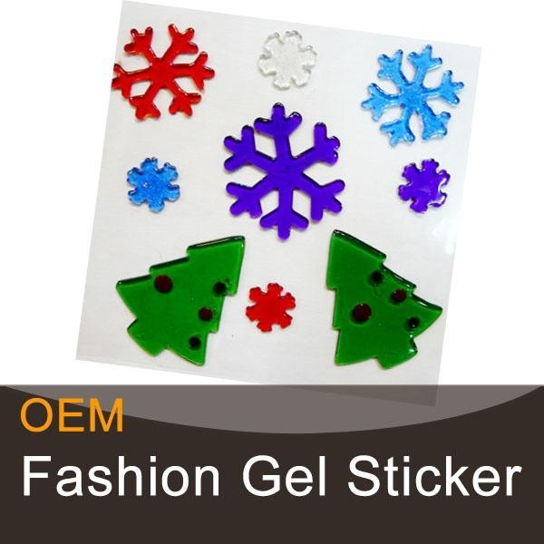 Quality Christmas promotional gel gems window stickers for sale