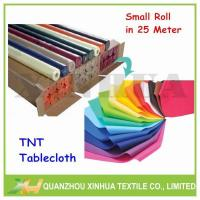 Buy cheap Disposable Non Woven TNT Tablecloth Manufacturer Package:Rolled with tube,packed by polybag from wholesalers