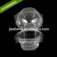 China Single Use Cupcake Container Plastic Individual Clamshell Carrier on sale