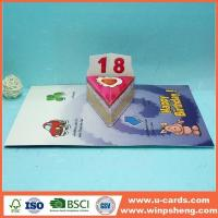 Buy cheap Handmade Card Creative Simple Pop Up 18th Birthday Cards from wholesalers