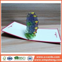 Wholesale Handmade Card Custom 3d Christmas Tree Pop Up Card from china suppliers