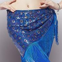 Buy cheap Fashion Girl Gold Tassel Belly Dance Hip Scarf,Belly Dance Performance Hip Scarf from wholesalers