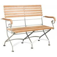 Buy cheap Outdoor Teak Wood Teak Wood Bistro 2-Seater Bench With Iron Frame from wholesalers