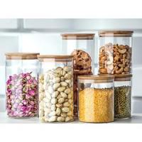 Wholesale Table & kitchen glassware Glassery Airtight Glass Canister from china suppliers