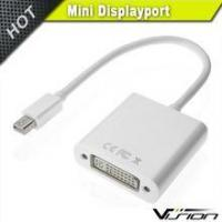 Buy cheap Gold Plated Mini DisplayPort (Thunderbolt Port Compatible) to DVI Male to Female Adapter in White from wholesalers