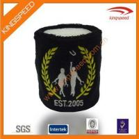 Buy cheap Animal cheap cotton terry cloth print embroidered sweatbands from wholesalers