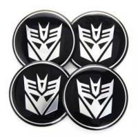 Buy cheap 4pcs Car Tyre Wheel Rim Centre Caps Cover Stickers Hub Transformers DECEPTIONS 60mm #4420 from wholesalers