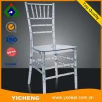 Buy cheap Wholesale Transparent plastic chair Ice Resin Chiavari Chairs acrylic chair for sale from wholesalers