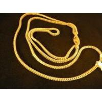 Buy cheap Hip hop jewelry Gold Necklace For Men 24 inches Franco Gold Chain from wholesalers