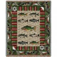 China Indian Blankets Gone Fishing Blanket on sale