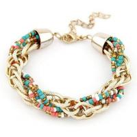 Buy cheap Bohemian Resin Bead and CCB chain Fashion Bracelet from wholesalers