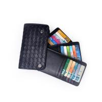 Buy cheap custom handmade knitting mens leather personlized leather 42 slots cards holder product