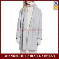 Buy cheap Good Quality European Style Two Buttons Woolen Winter Coat Women from wholesalers