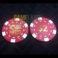 Buy cheap 11.5g Dice Poker chip with Hot Stamp Imprint from wholesalers