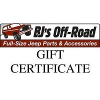 Buy cheap BJ's Off-Road Gift Certificate GC from wholesalers