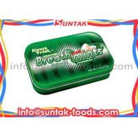 China Sugar Free Tablet Tin Box Candy With Customize Logo Print Watermelon Flavor on sale