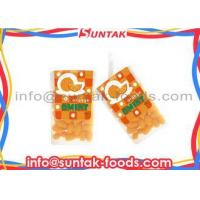 Buy cheap Orange Coated Organic Sugar Free Candy , Colorful Mint Candies Oval Shape from wholesalers