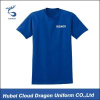 Buy cheap Summer Blue Police Department T Shirts Custom Work Shirts Short Sleeve from wholesalers