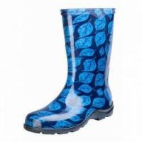 Buy cheap Sloggers Women's Print Rain and Garden Boots Leaf Blue from wholesalers