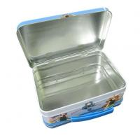 Tin Lunch Box USA Long Rectangular Lunch Tin Box for Sales with Handle and Lock Manufactures