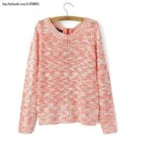 Buy cheap L2-191(B5-3-1E)Spell color sweater back zipper sweater from wholesalers