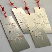 Buy cheap Stainless steel etch metal bookmark from wholesalers