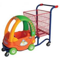 China Plastic Kids shopping trolley with big basket on sale