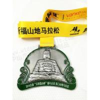 Wholesale 3D Antique silver metal medal for triathlon events WM086 from china suppliers