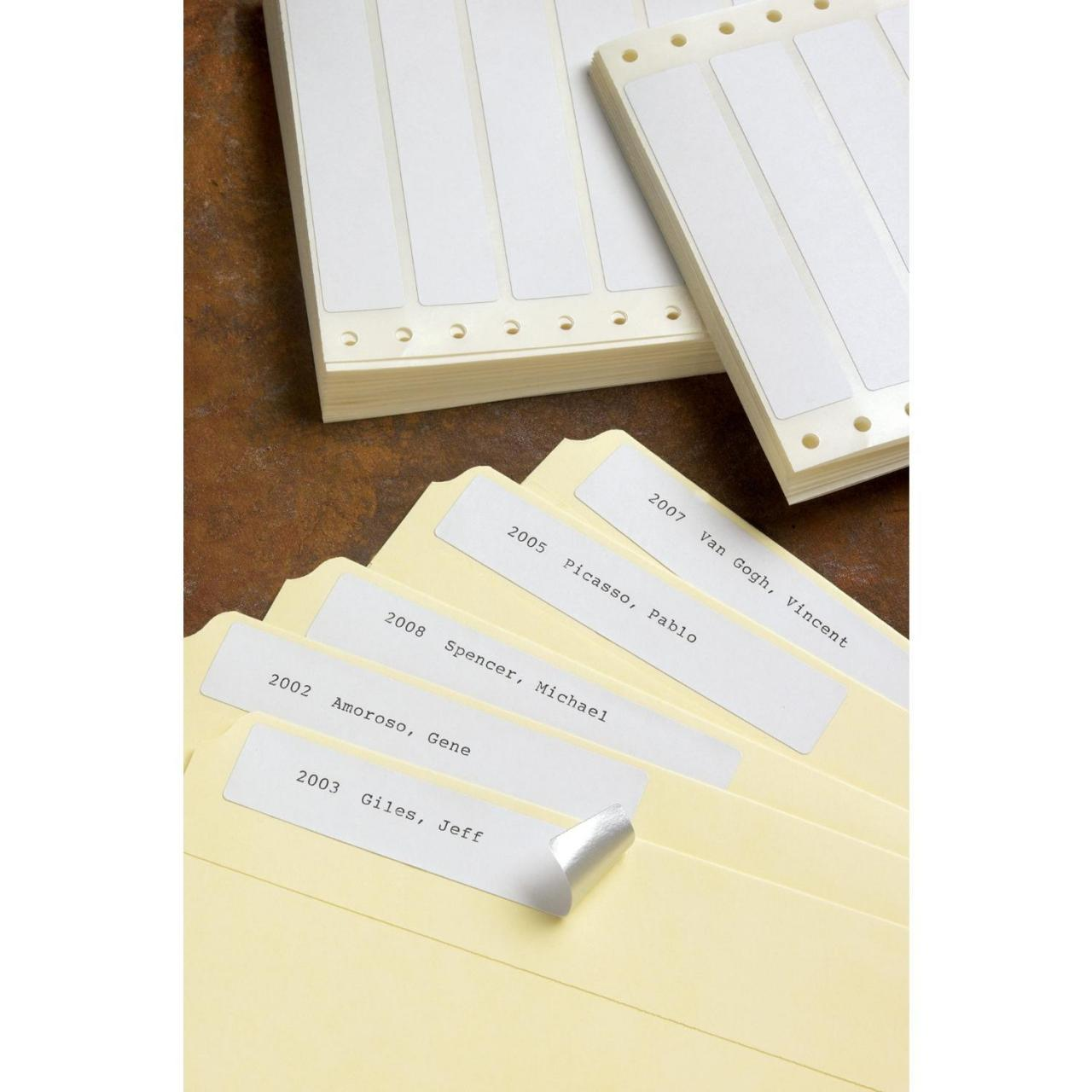 Buy cheap Foil-Back Pin-Feed File Folder Labels (1,000-Pack) from wholesalers