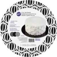 Buy cheap Cake Board Black & White 3 CT from wholesalers
