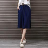 China Chinese National Style High Waist Cotton Linen Pants For Woman on sale