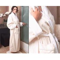 Buy cheap Living Health Products SPA-ROBE-001 Microfiber Spa Robe, Cream with White from wholesalers