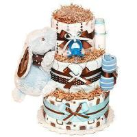 Buy cheap Girl Diaper Cakes Blue and Brown Bunny Diaper Cake from wholesalers