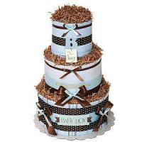 """Wholesale Undecorated Diaper Cakes Simple """"B"""" for Boy Diaper Cake from china suppliers"""