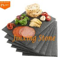 China Black Slate Cheese Tray Wine Party Biscuit Serving Board Natural Stone Dinner Tablemat on sale