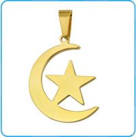 PE01118 Moon And Star Gold Plated steel Pendant Manufactures