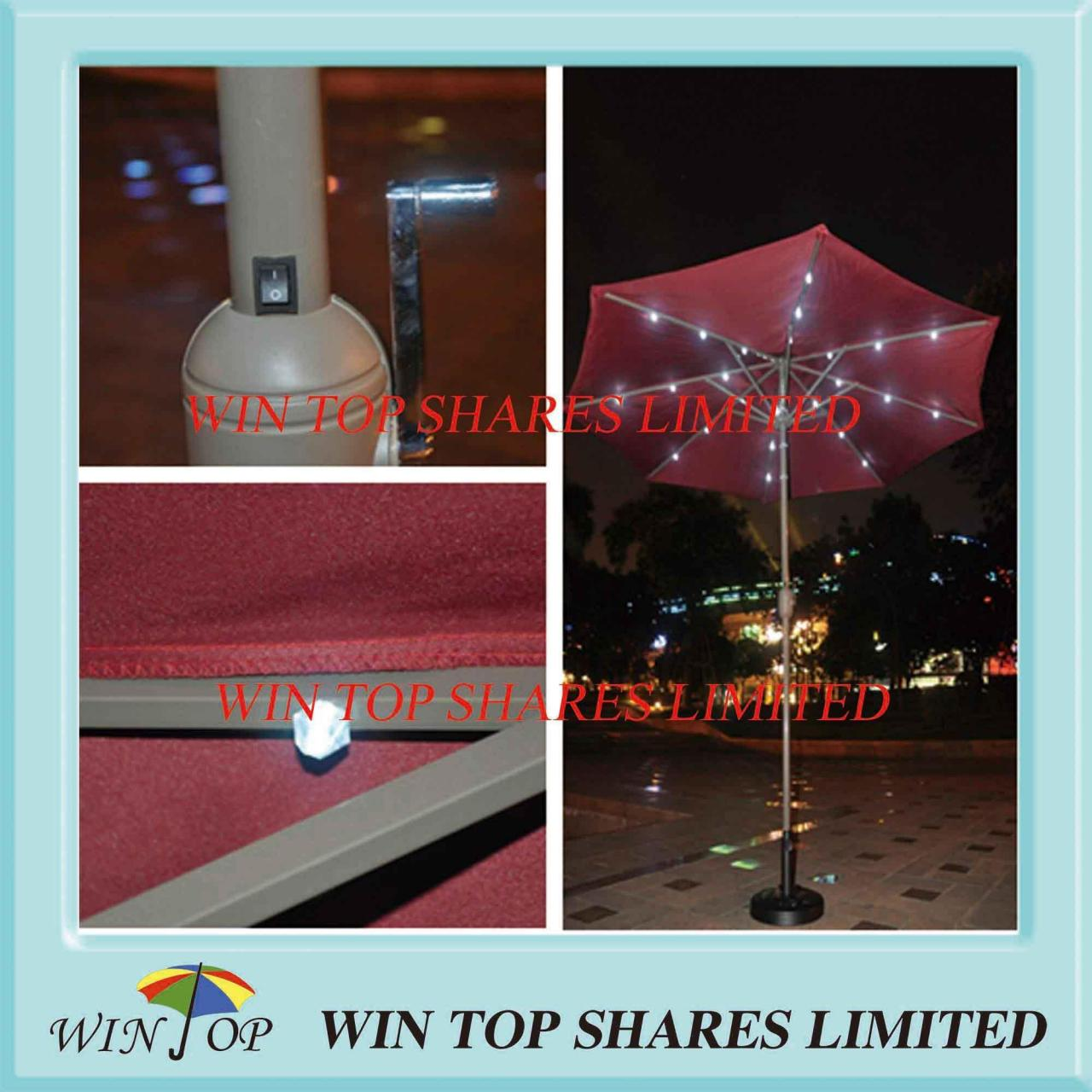 Buy cheap 2.7m Garden LED Market Umbrella for Outdoor Use from wholesalers