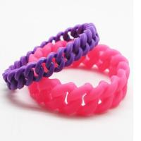 Buy cheap silicone link bracelet from wholesalers