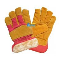 Wholesale Yellow Warm Fur Health Care Gloves from china suppliers